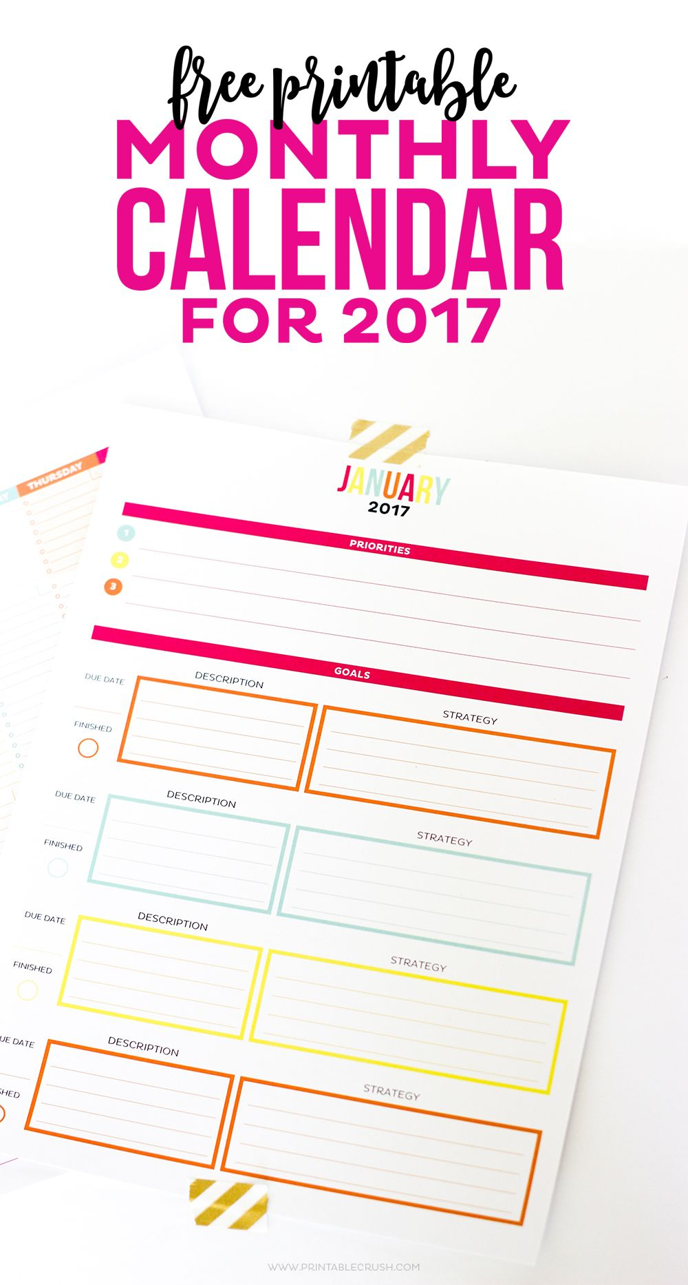 This Is The Most Functional Printable Monthly Calendar It
