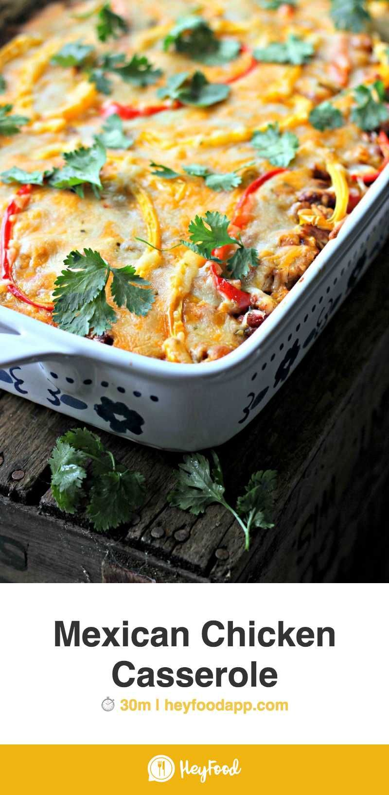 Mexican Chicken Casserole     #mealpreplife #cookery #recipetesting #chow #cookbook #healthycooking #whaticooked #mealpreps  Recipe credit: The Gourmet RD #mexicandishes
