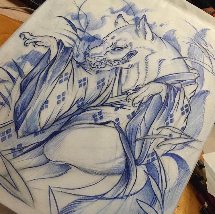 kistune from tattoosbymisskaija on instagram kitsune tattoo japanese art fox pinterest. Black Bedroom Furniture Sets. Home Design Ideas