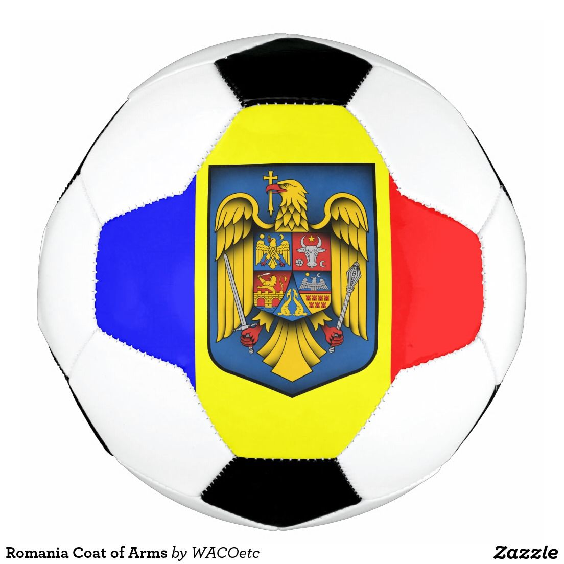 Romania Coat of Arms Soccer Ball