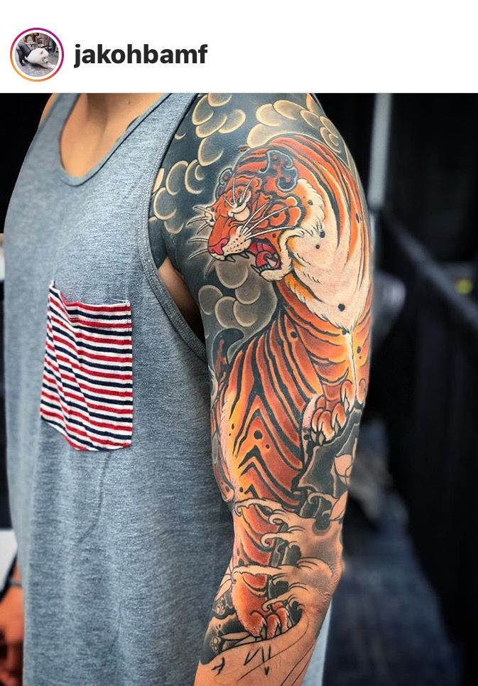 Pin By Casey Beggs On Tattoos Japanese Tattoo Tiger Tattoo Sleeve Tiger Tattoo