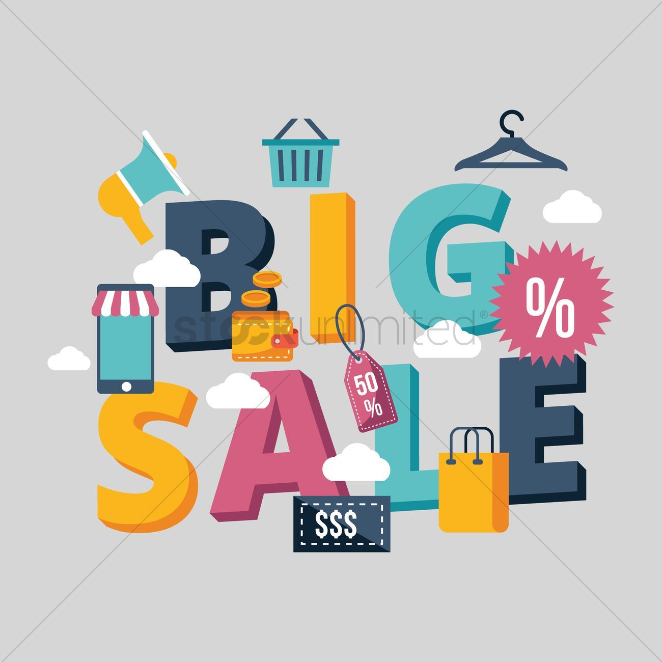 Big Sale Lettering Design Vectors Stock Clipart Sponsored Lettering Sale Big Design Clipart Affil Web Design Services Marketing Trends Ecommerce