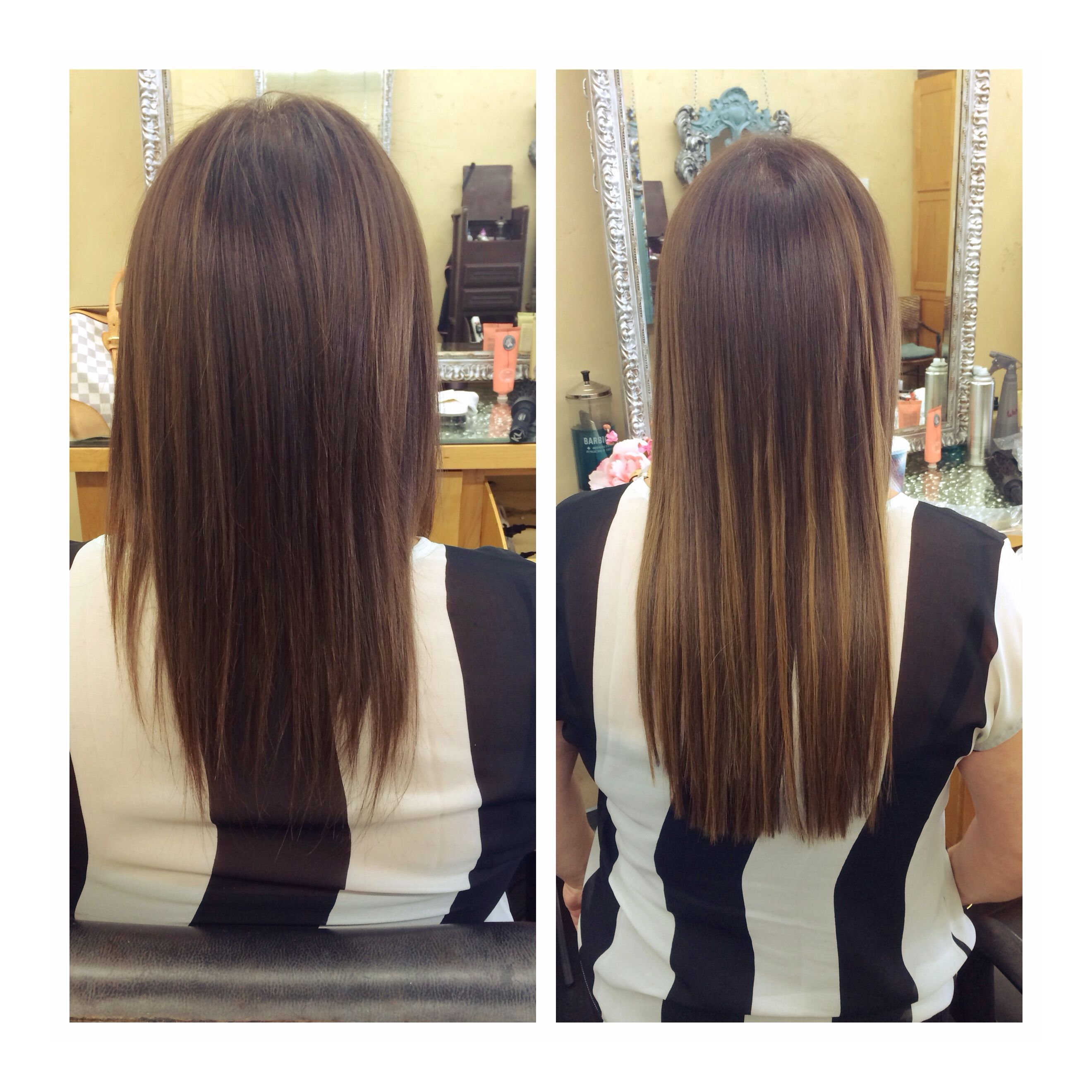 Before And After 16 Inch Extensions Hair Styles Long Hair Styles Beauty