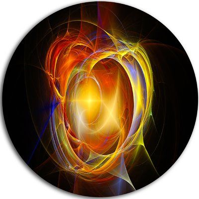 "DesignArt 'Supernova Explosion in Black' Graphic Art on Metal Size: 38"" H x 38"" W x 1"" D"