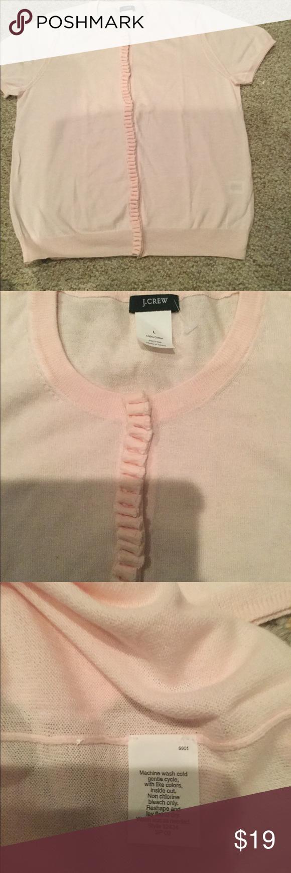 J Crew Light Pink Cotton Sweater Nwot Size Cotton Sweater Pink Cotton Light Weight Sweater