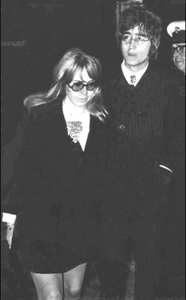 Cynthia Powell-Lennon and John Lennon.