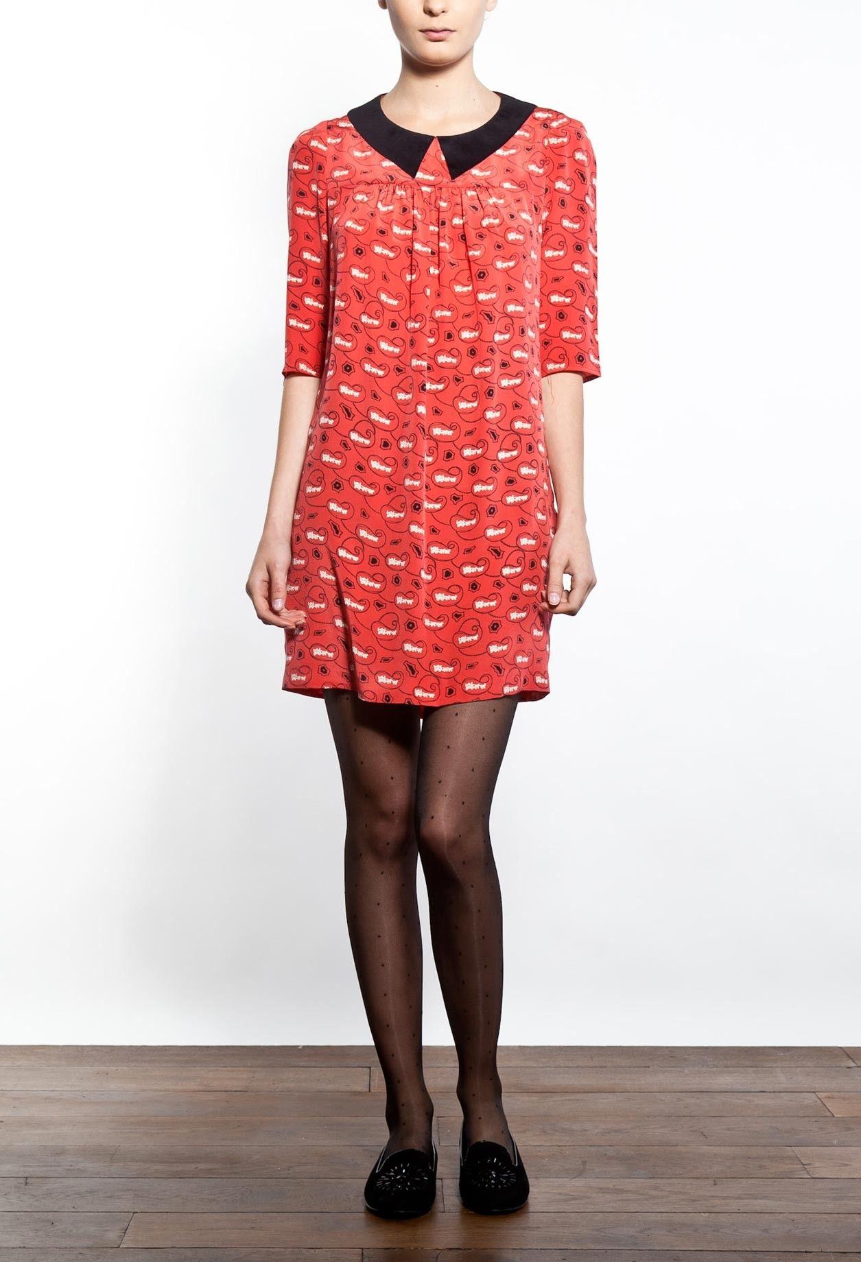 Robe Ryder rouge Claudie Pierlot | Idées de mode, Idées