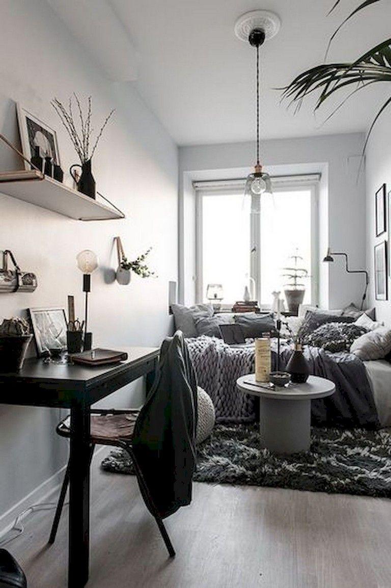 10+ Lovely Small Studio Apartment Decor Ideas | Apartment room ...