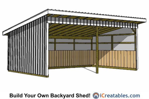 16x24 Run In Shed Plans 16x24 Shed Plans Pinterest