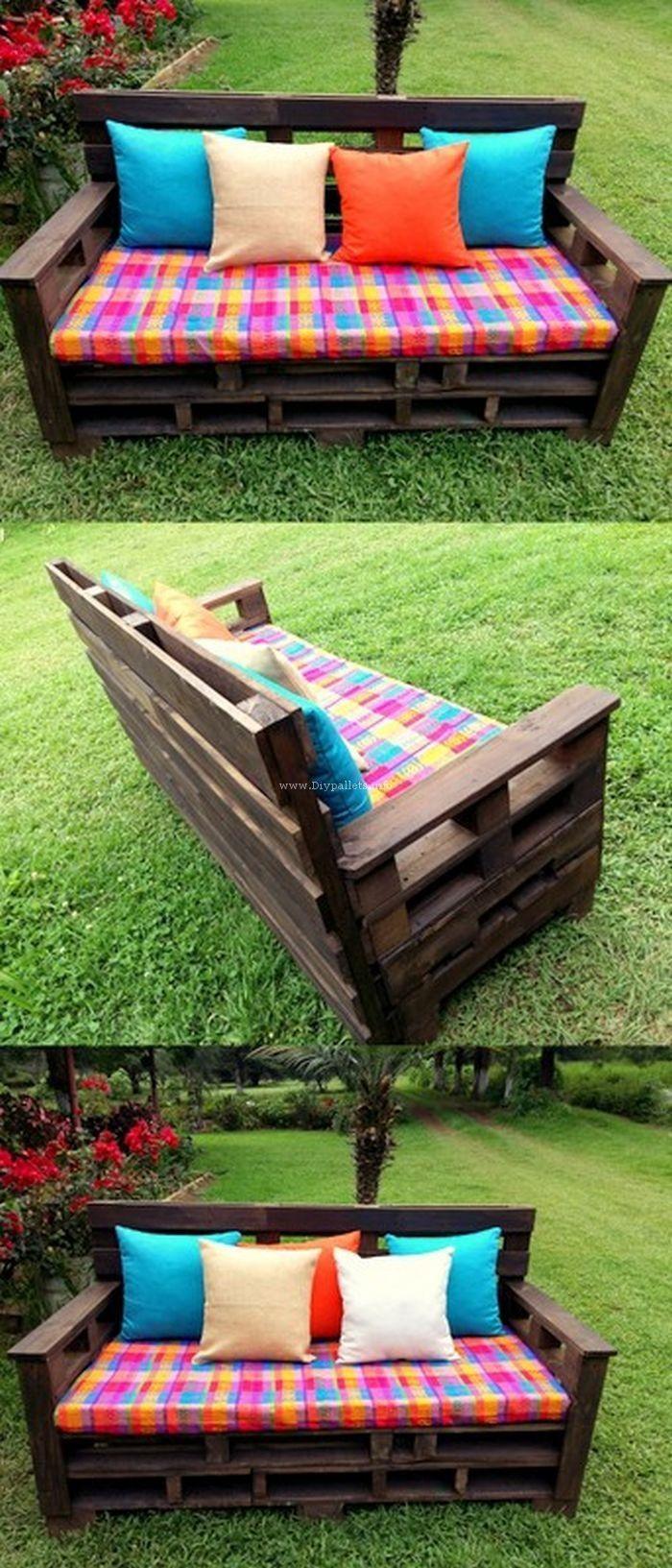 pallet bench fai da te pinterest m bel palette e holzm bel. Black Bedroom Furniture Sets. Home Design Ideas
