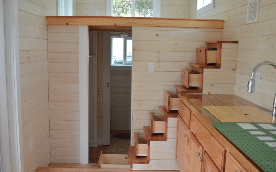 I Love The Stairs In The U0027Home Runu0027 By Brevard Tiny House   Http