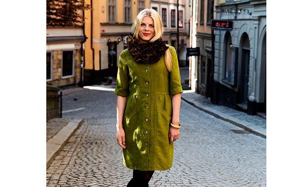 Soft autumn in dress Antonia, 100% linnen.