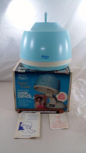 Mib Vtg Dazey Baby Blue Natural Wonder Salon Stylehair Dryerbaby