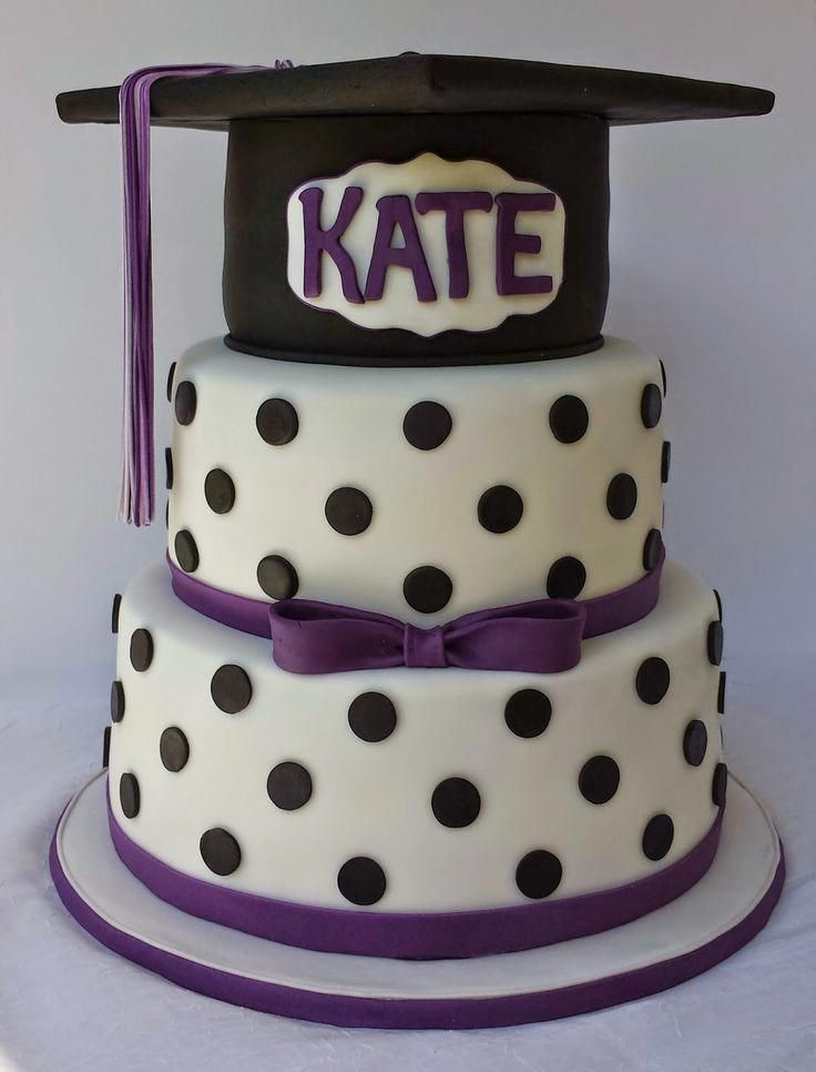 Photo of Cake Blog: Easy Polka Dot Application/Spacing #graduationcakes