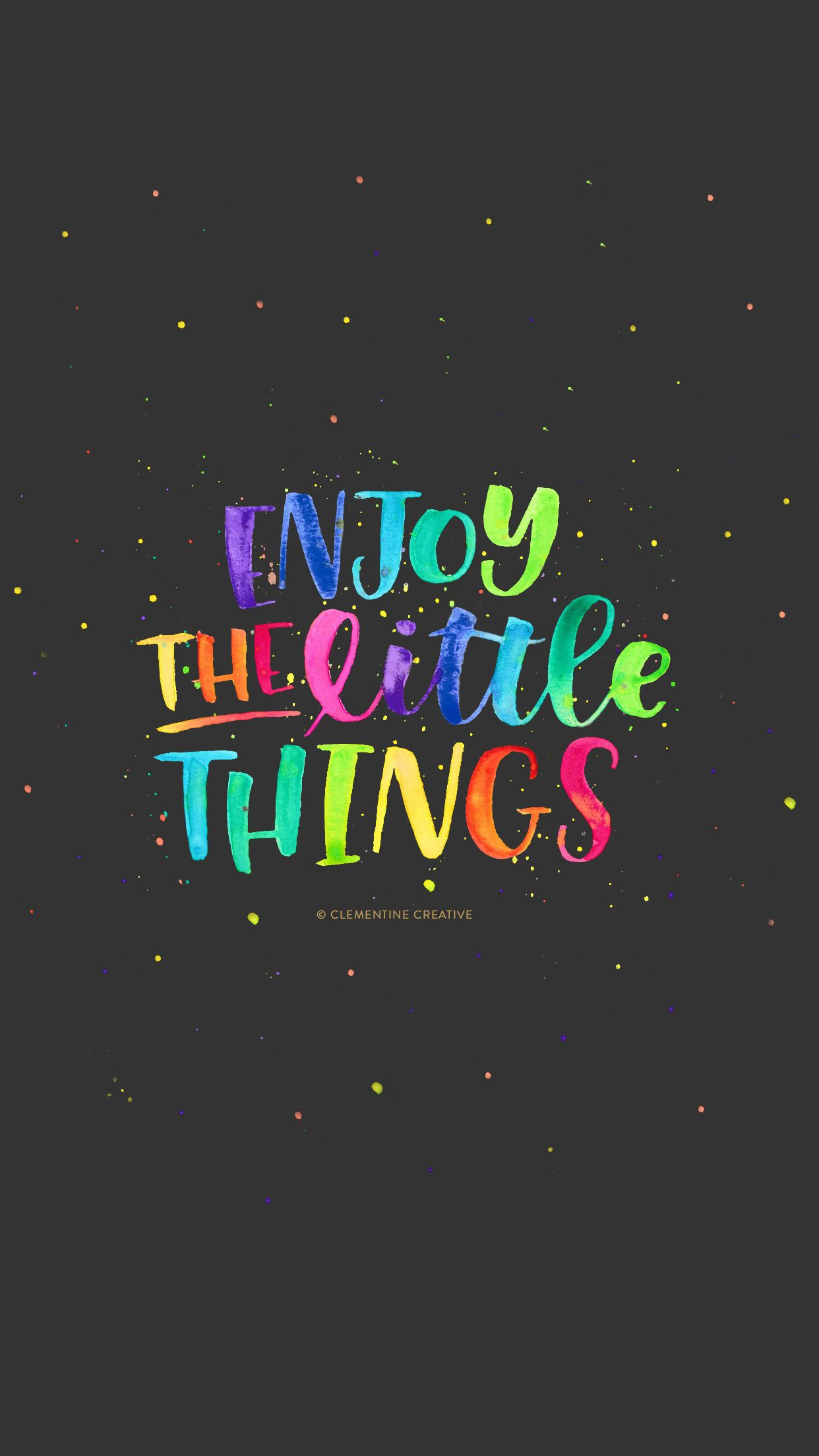 Free Wallpaper Enjoy The Little Things Wallpaper Quotes Iphone