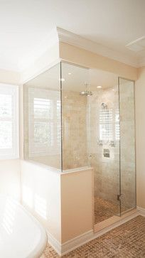 Showers With Knee Walls Design Ideas Pictures Remodel And Decor Half Wall Shower Bathroom Remodel Shower Bathrooms Remodel