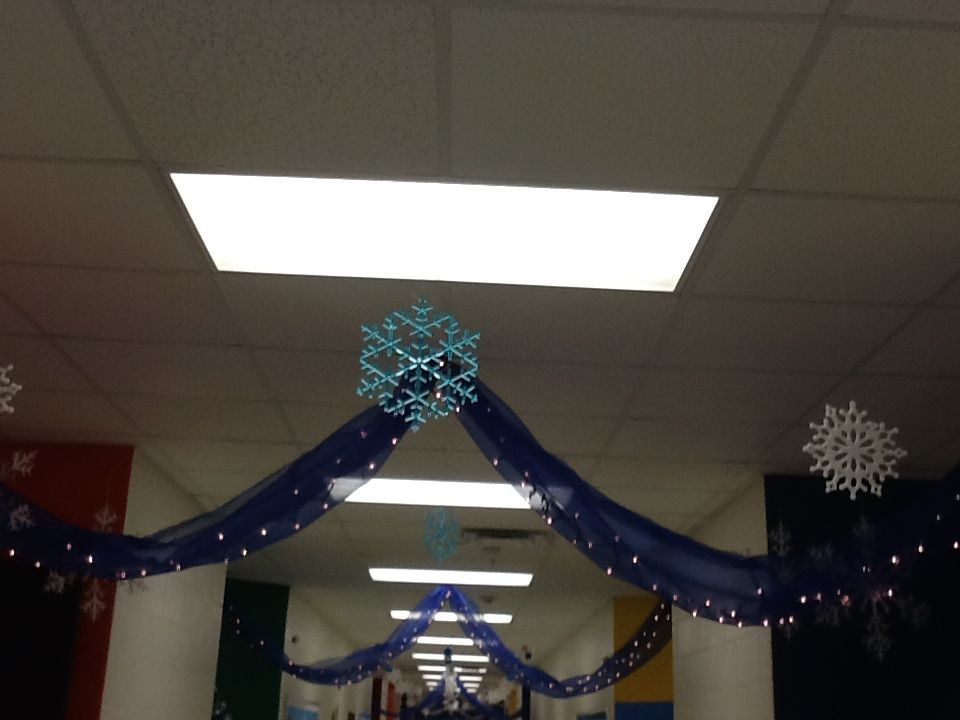 Winter wonderland decorations for school hallway kap