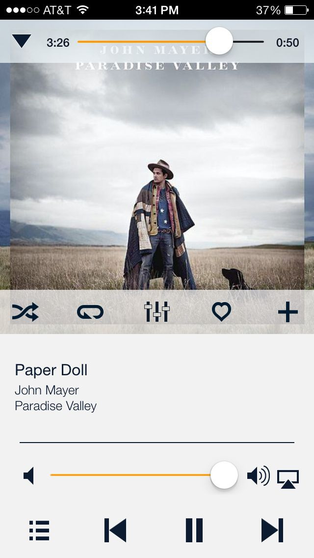 Paper doll - John Mayer there's that little touch of grey there again