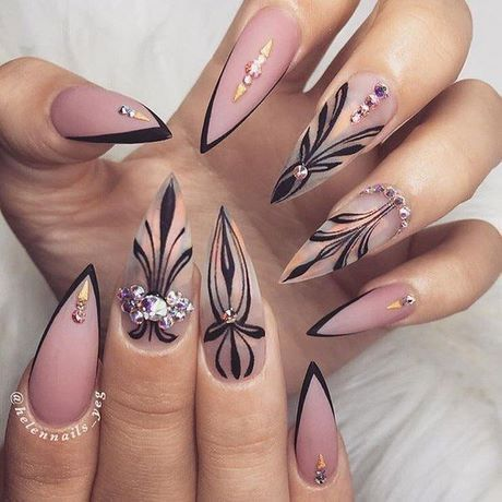 2019 Stiletto Dessins Ongles Stiletto Dessins Ongles Dessin Ongle Vernis A Ongles