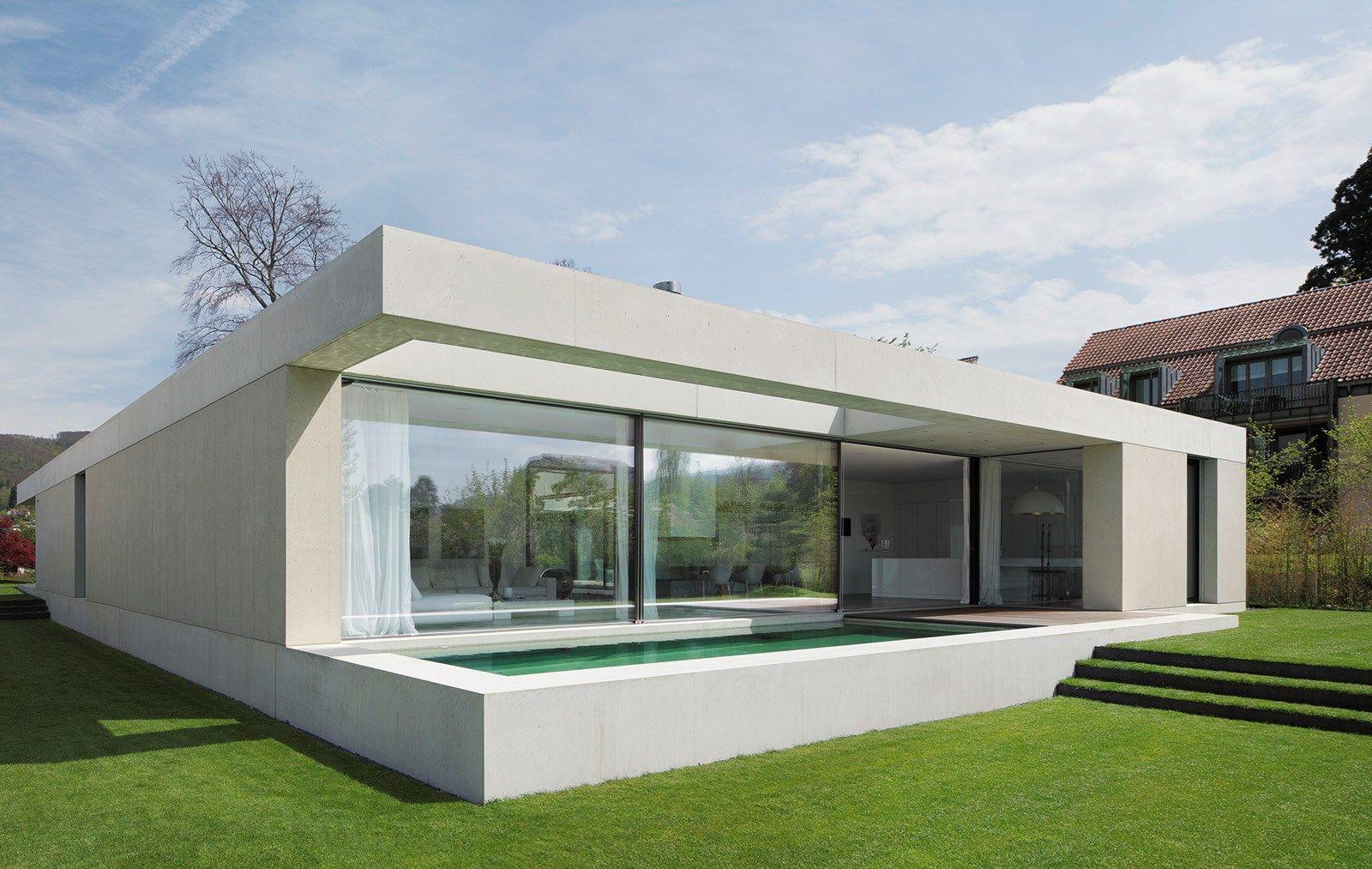 garten tom bisig villa atrium arlesheim kren architektur ag bungalow pinterest. Black Bedroom Furniture Sets. Home Design Ideas