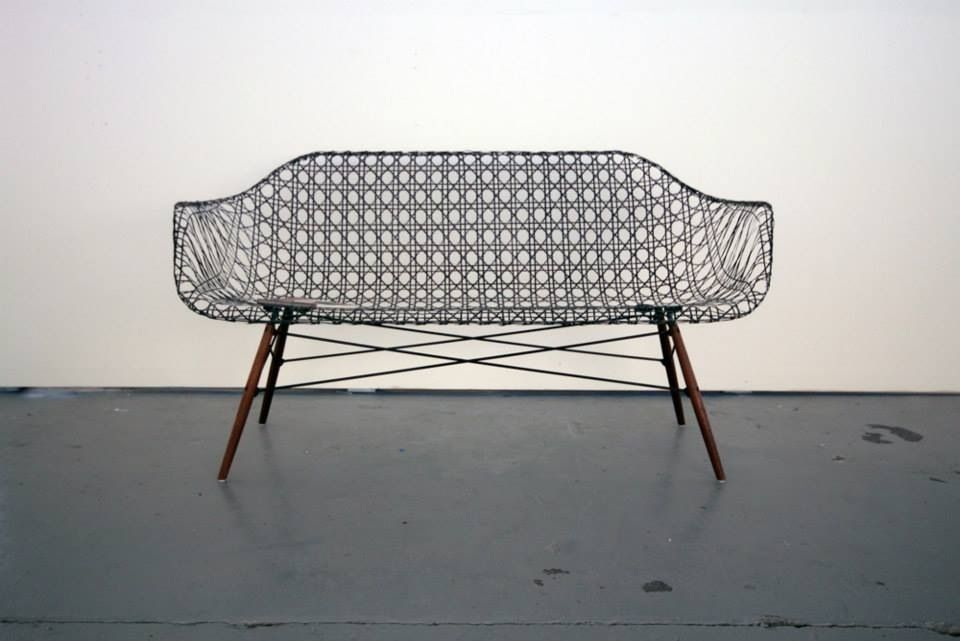 Carbon fiber sofa by Matthew Strong, from Architonic