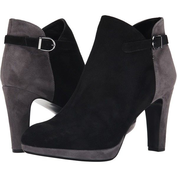 Womens Boots Vaneli Ionna Black Suede/Grey Suede