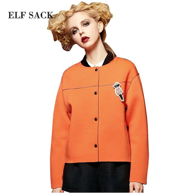 We love it and we know you also love it as well ELF SACK Women Spring Single Breasted Removable Badge Long Sleeve Loose Baseball Coat just only $30.99 with free shipping worldwide  #womanjacketscoats Plese click on picture to see our special price for you