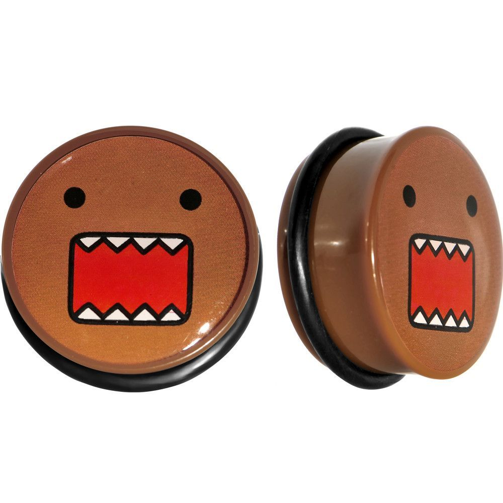 1 Inch Acrylic Licensed Domo Screw Fit Plug Set Tunnels And Plugs Body Jewelry Piercing Sweet Jewelry