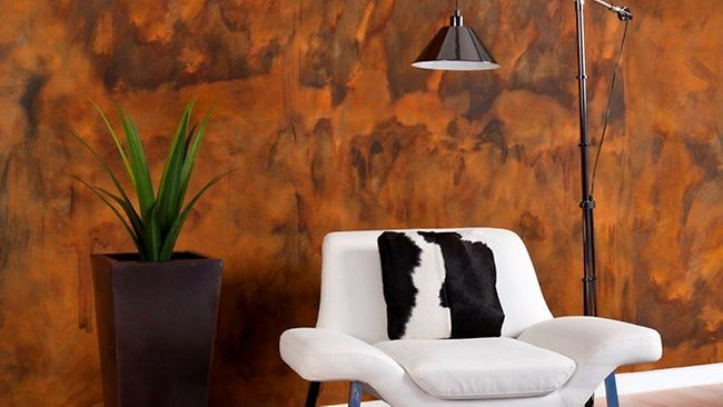 Dulux rust paint hmm nice for the double height feature - Dulux exterior wall paint design ...