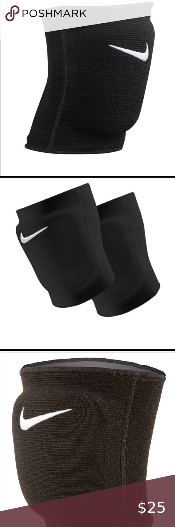 Nike Unisex Essential Volleyball Knee Pads M L In 2020 Volleyball Knee Pads Black Nikes Knee Pads