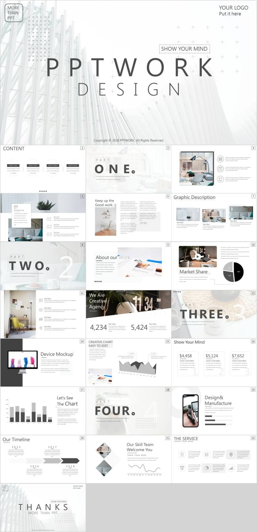 White Magazine Style Template Pcslidepowerpoint Templates