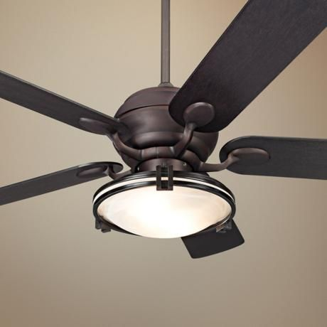 "52"" Casa Optima™ Espresso Ceiling Fan with Light Kit. Yes PLEASE !!!"