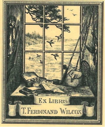T. Ferdinand Wilcox bookplate. Wilcox Hall is the nucleus of a group of buildings at Princeton University named in honor of its donor, T. Ferdinand Wilcox, class of 1900, senior partner in a New York banking and brokerage firm. It contains dining a 12,000-book working library, named for author Julian Street.