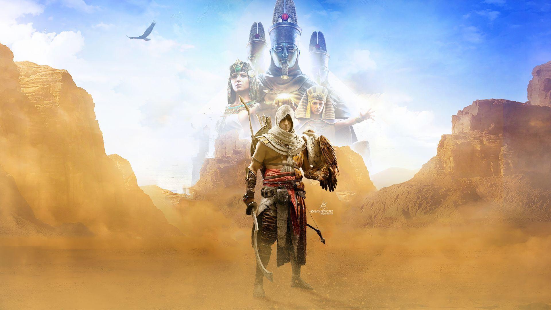 Bayek Assassin S Creed Origins Artwork 4k Assassins Creed Movie Assassins Creed Origins Assassins Creed