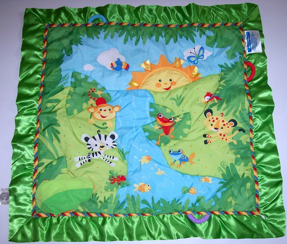 Fisher Price Replacement Mat Only Deluxe Melodies Lights Baby Rainforest Gym Rainforest Activities Rainforest Music Baby Gear Bundle