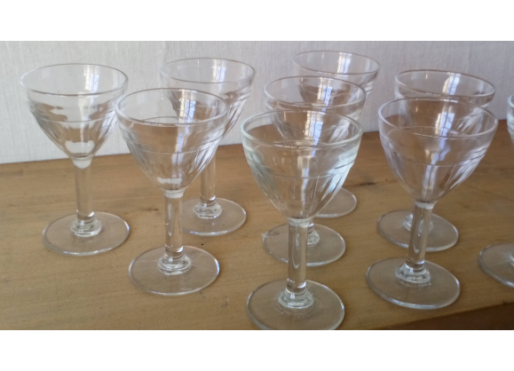 Verres quinquina ap ritif anciens verre table en - Film transparent pour table en verre ...