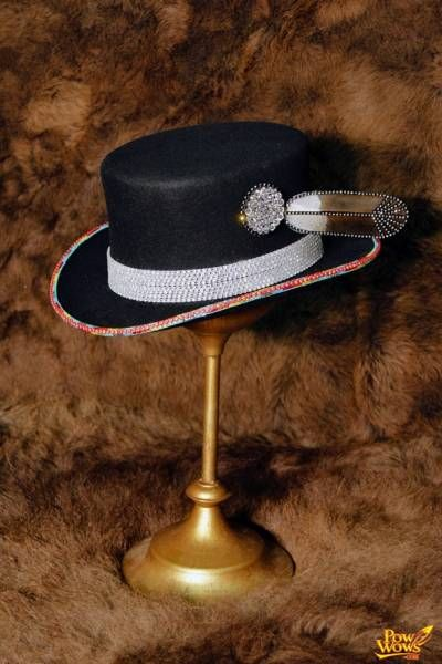 Rhinestone Beaded Top Hat