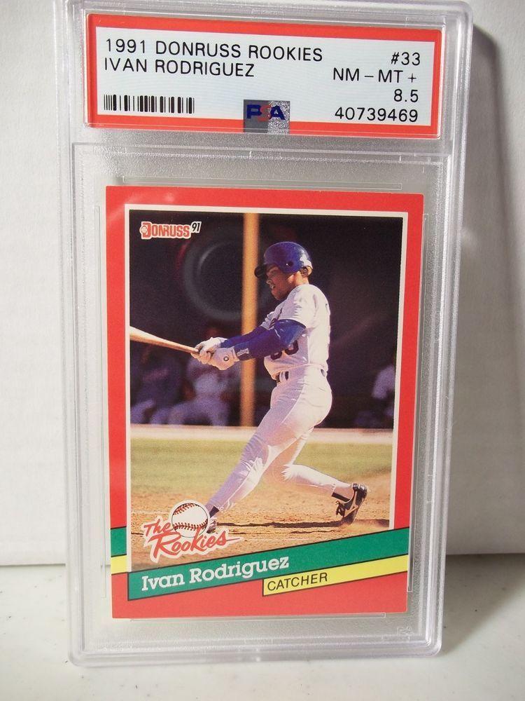 1991 donruss rookies ivan rodriguez rc psa nmmt 85