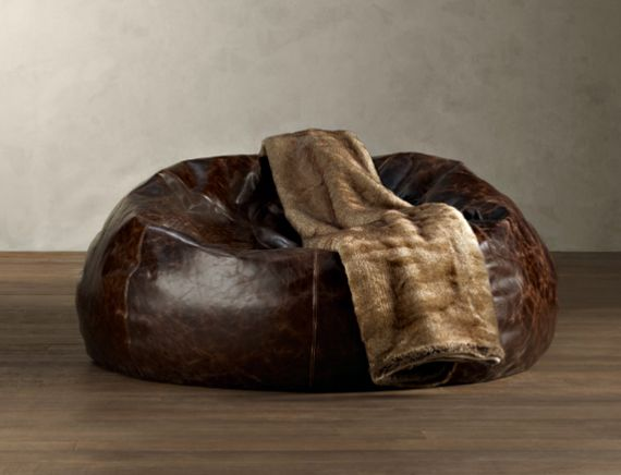 Exceptionnel Itu0027s A Giant, Leather, Perfectly Plumped Bean Bag Chair; You Donu0027t Need A  Reason Other Than That To Buy It.