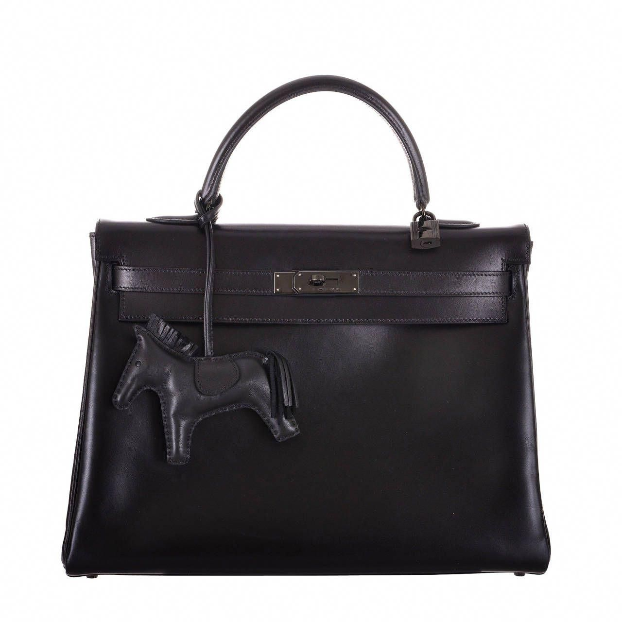 HERMÈS LIMITED EDITION SO BLACK BIRKIN IN BLACK CALFBOX LEATHER ... 87a7f34de1229