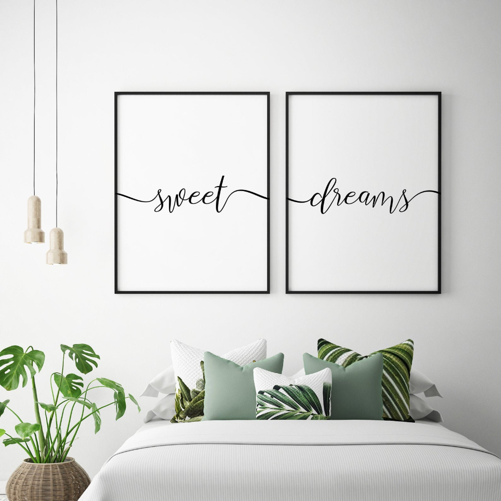 Sweet Dreams Duo Print Sweet Dreams Wall Art Above Bed Etsy In 2020 Bedroom Wall Decor Above Bed Art Above Bed Above Bed
