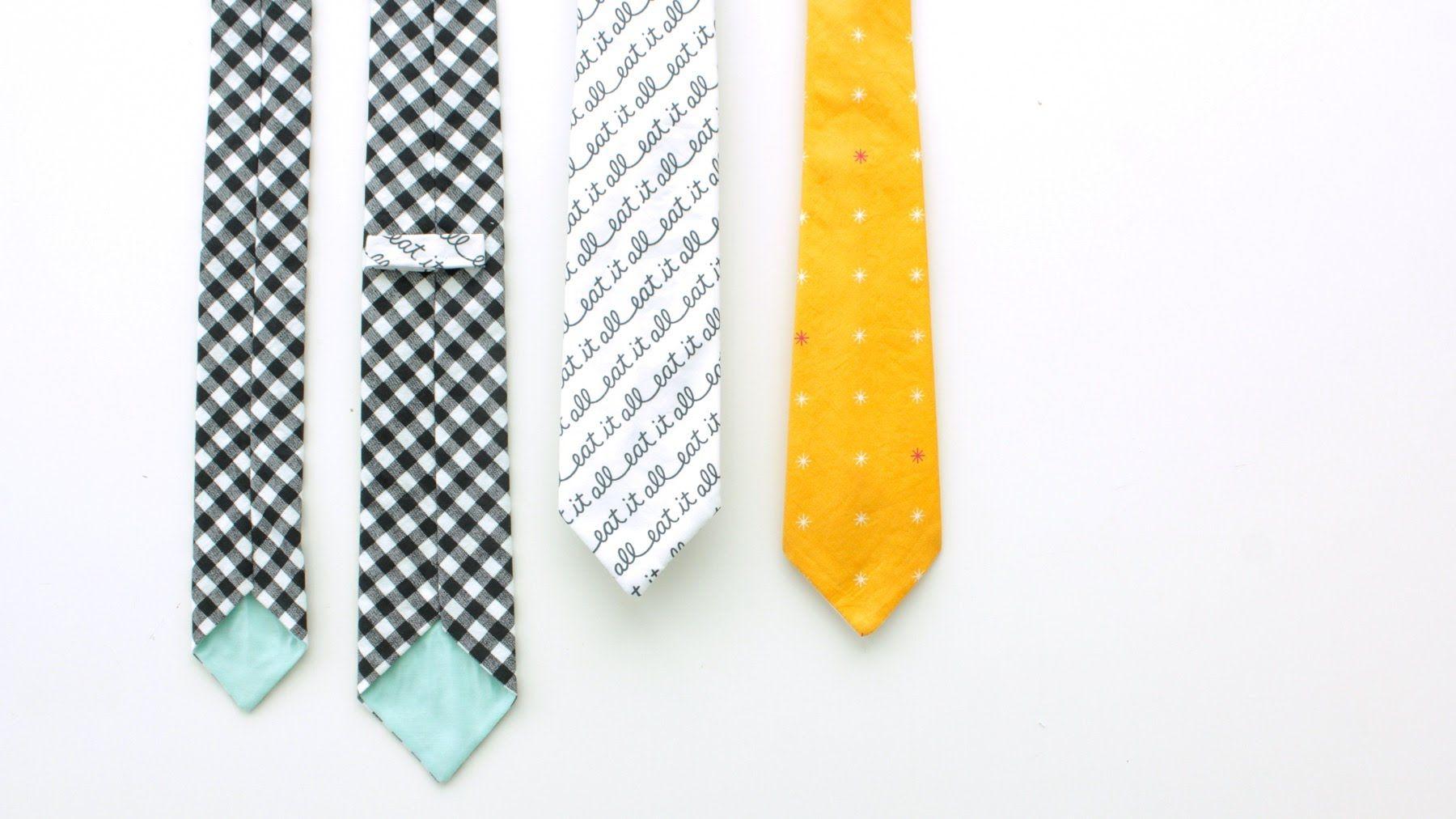 How to sew a Necktie for Boys + Teens + Men --- Skinny Tie ...