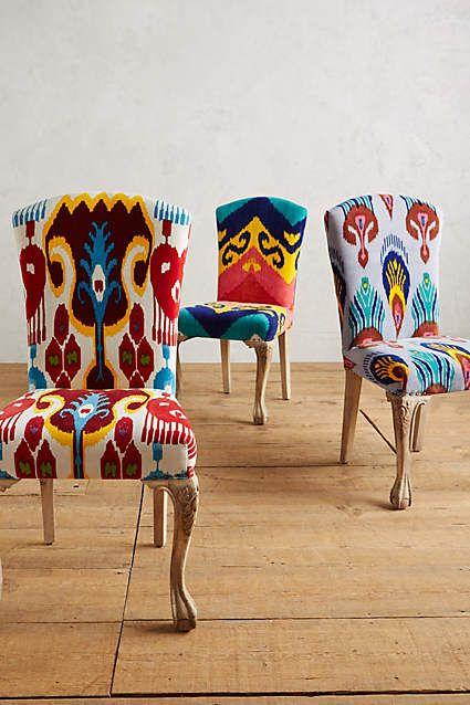 Marialle Ikat Dining Chair | Sillas, Tapicería y Muebles restaurados
