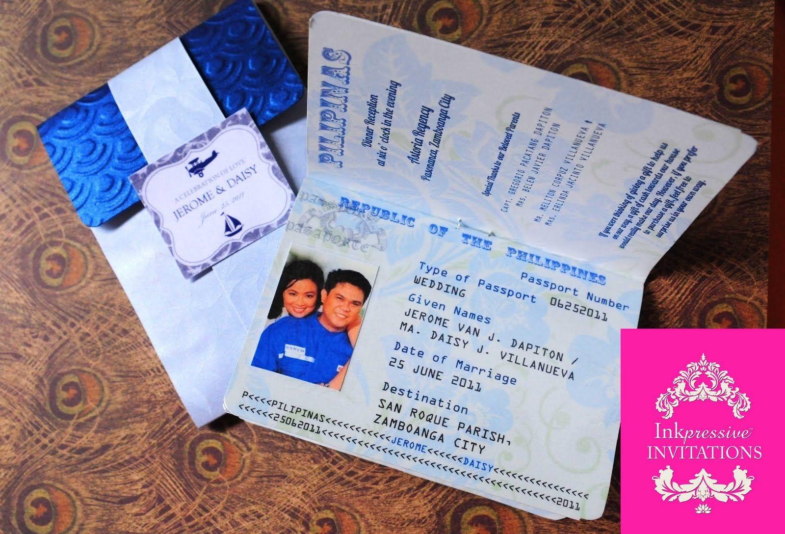 passport wedding invitations template - The Originality of the
