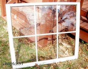 how to turn an old window into a mirror, diy, home decor, how to, painted furniture, repurposing upcycling, The window as it began