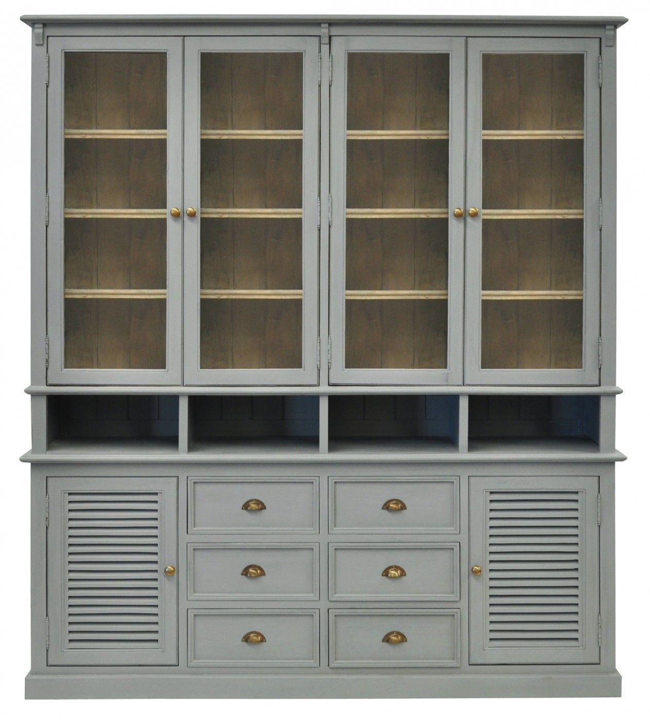 Featuring generous storage for books crockery glasses and