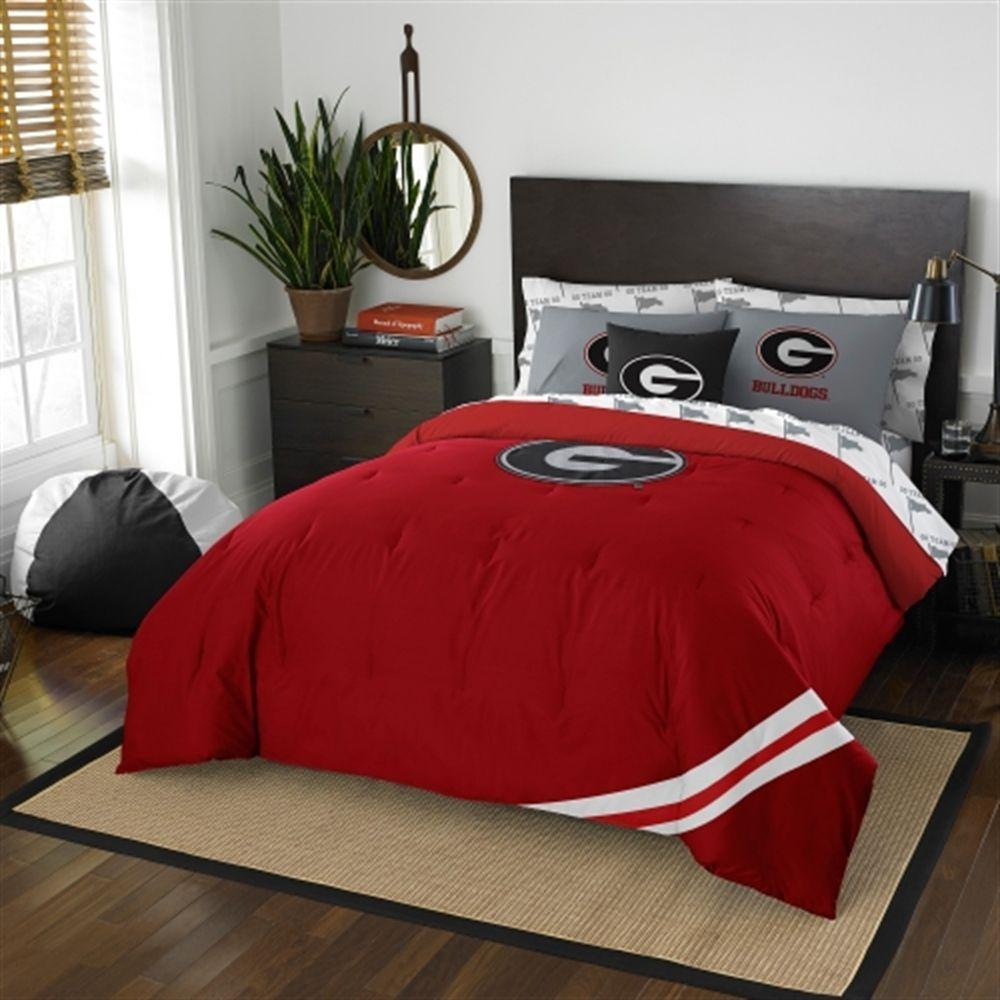 Bedroom Sets Georgia georgia bulldogs 7-piece full bedding set | home decor | pinterest