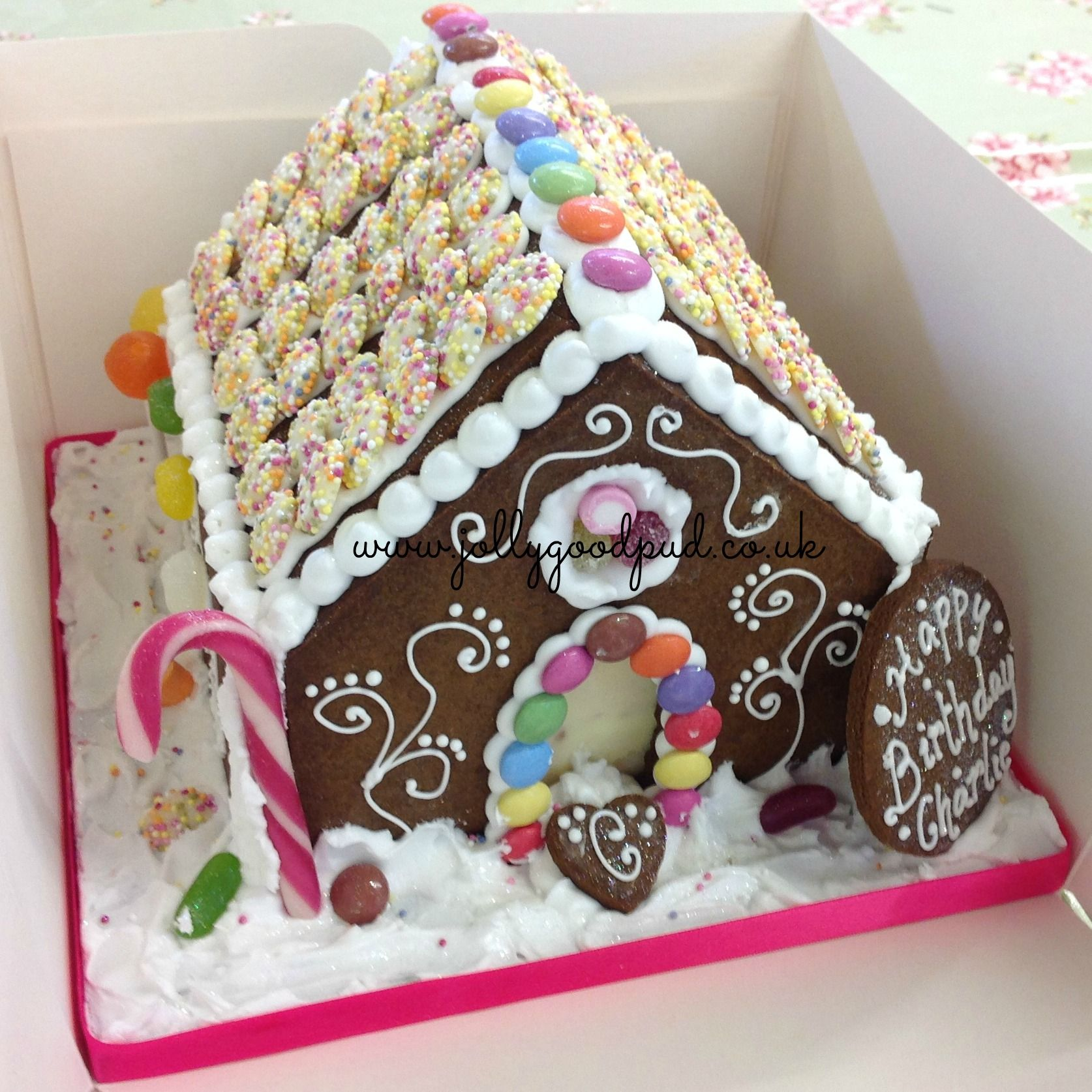 Gingerbread House Birthday Cake From The Jolly Good Pud