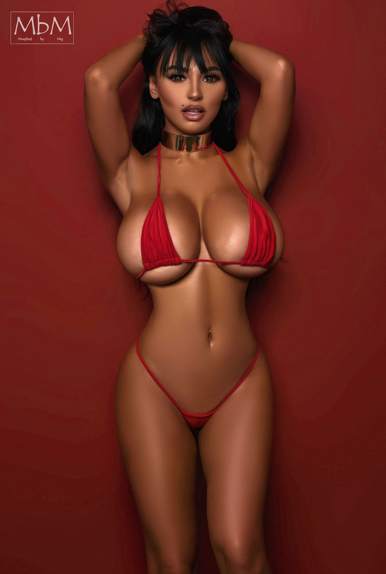 Chubby massive tits