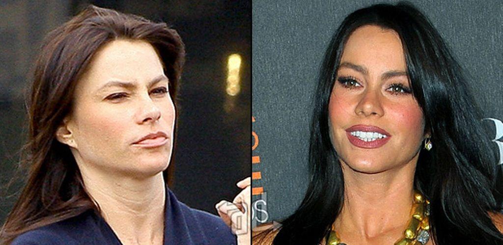 Sofia Vergara Nose Job Plastic Surgery Before After